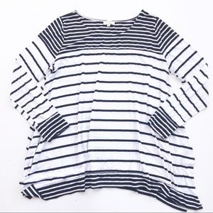 UMGEE Tunic Top Shirt Oversized Womens M stripes
